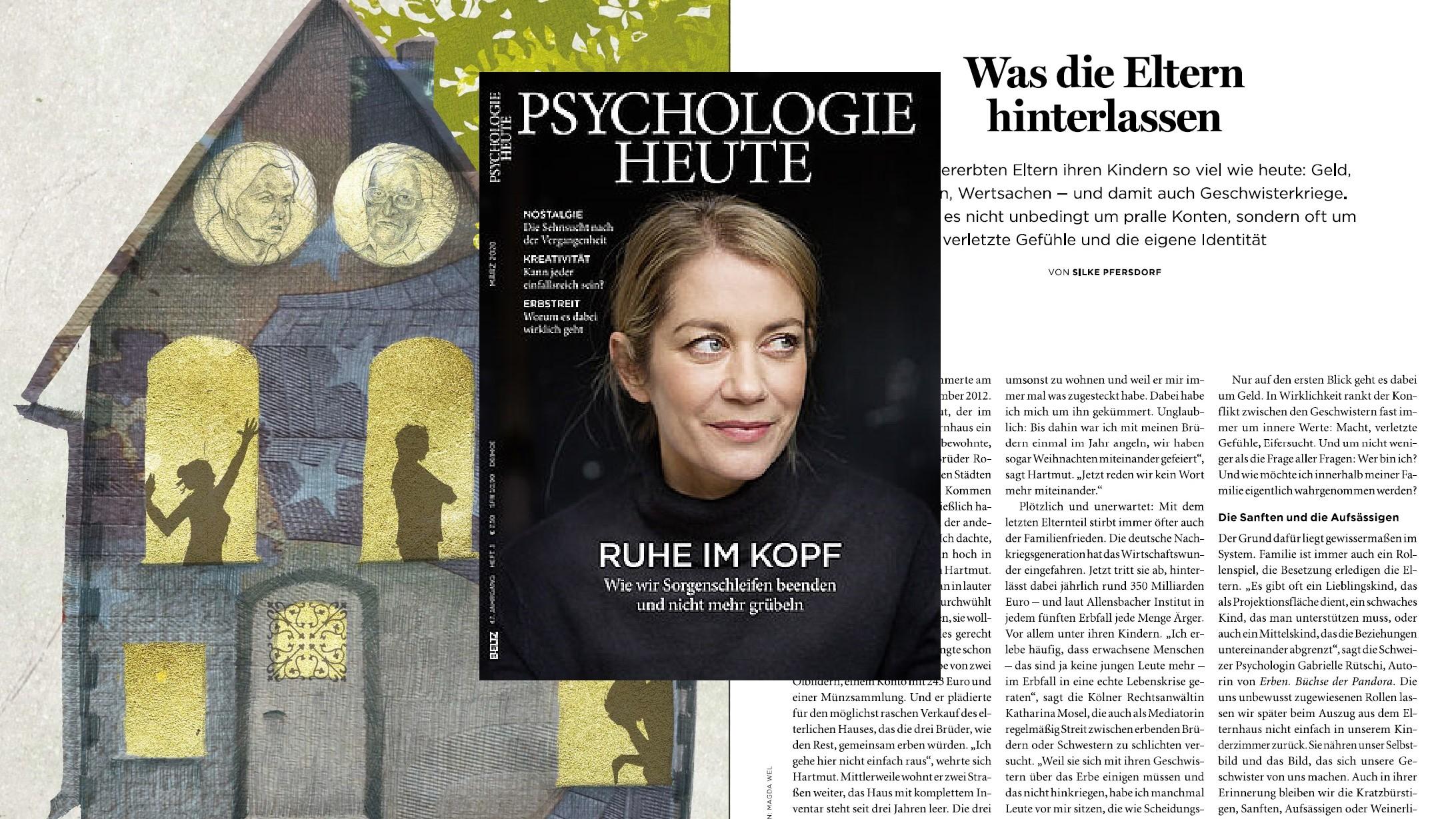 """Was die Eltern hinterlassen – Beitrag in """"Psychologie Heute"""""""